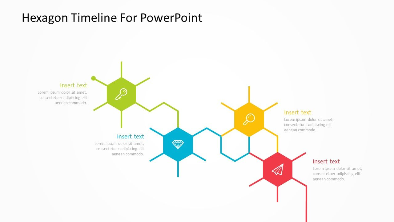 In Order To Achieve Any Business Goal There Are Steps That Need To Be Taken Each One Intertwined With The Next Show The Connecti Powerpoint Hexagon Timeline