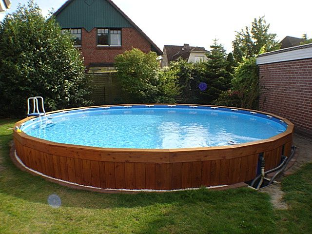 Intex pool eingegraben pool pinterest for Poolumrandung rundpool