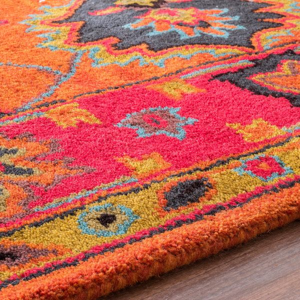 NuLOOM Handmade Overdyed Traditional Orange Wool Rug (8'6