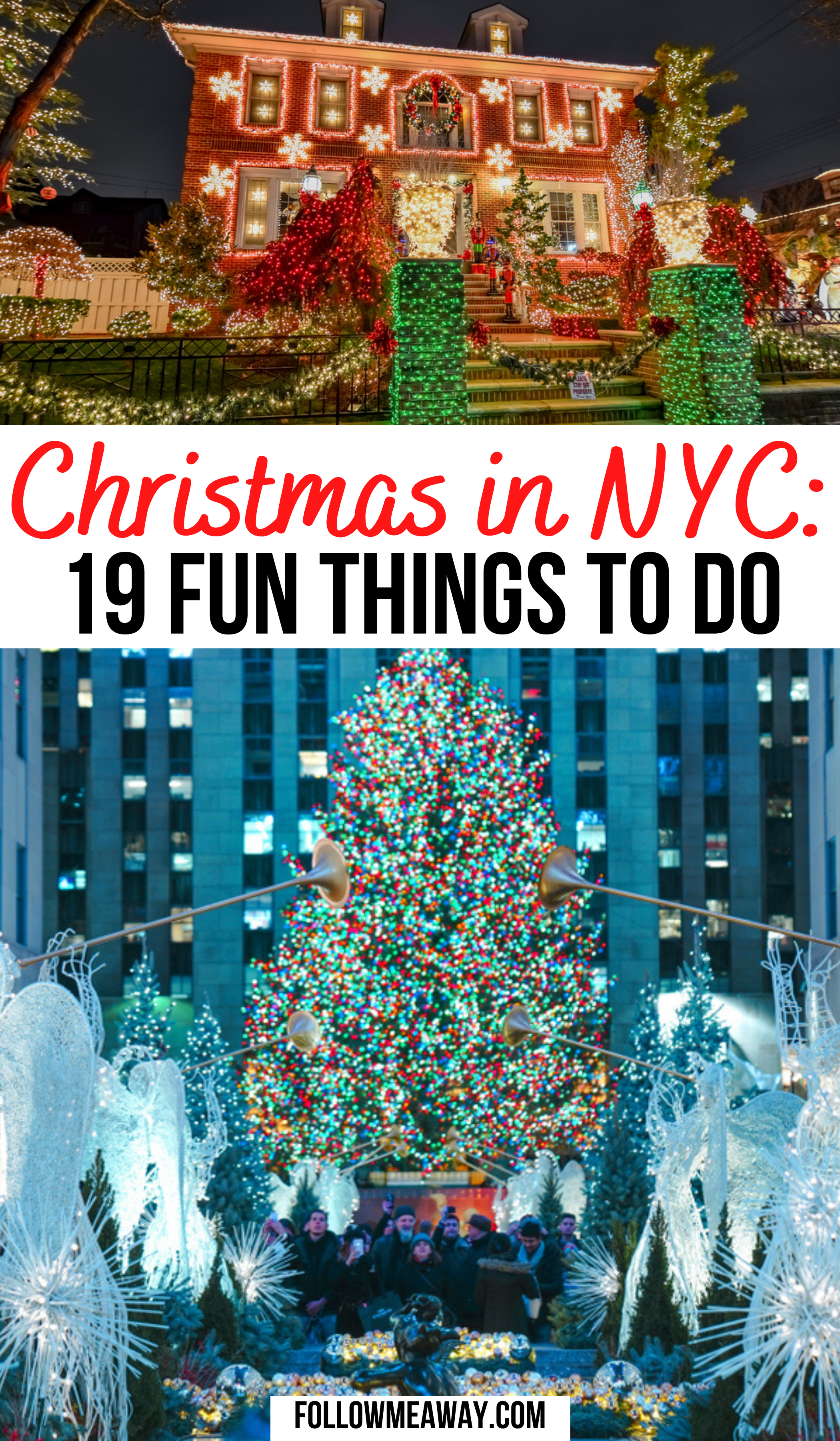 19 Festive Ways To Celebrate Christmas In New York City Follow Me Away In 2020 New York Christmas Christmas Travel New York City Christmas