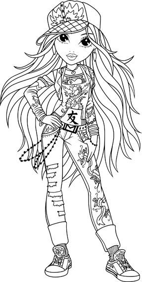 Moxie Girlz Coloring Pages For Girls 51 Best Images About Moxie