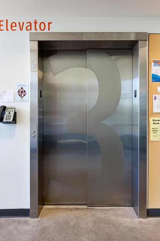 Stainless Steel Elevator Doors In Satin Finish With Custom Eco