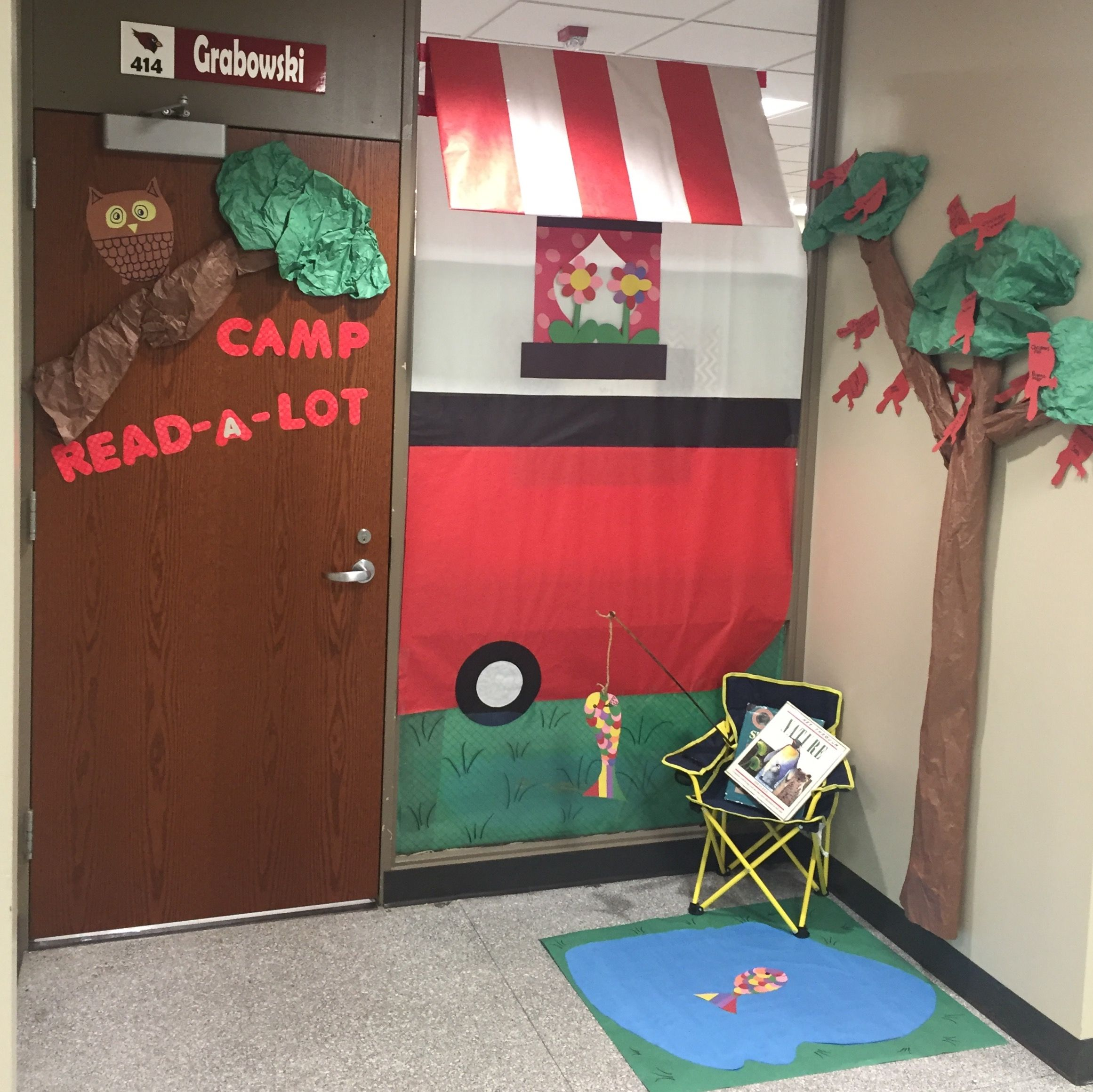 """Camping themed classroom door for """"March is Reading Month ..."""