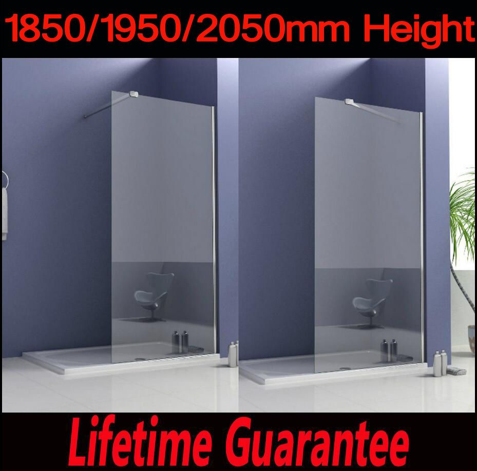 Walk In Shower Enclosure Wet Room Tall Cubicle 8mm Easyclean Glass ...