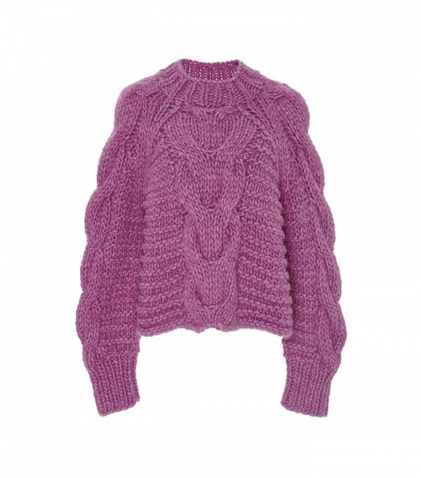 Ulla Johnson Hibiscus Francisca Cableknit Sweater