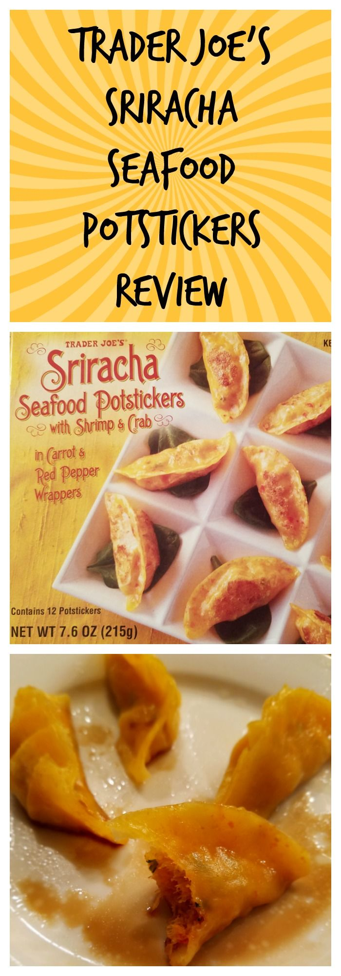 Trader Joe S Sriracha Seafood Potstickers Trader Joes Trader Joes Appetizers Frozen Meals