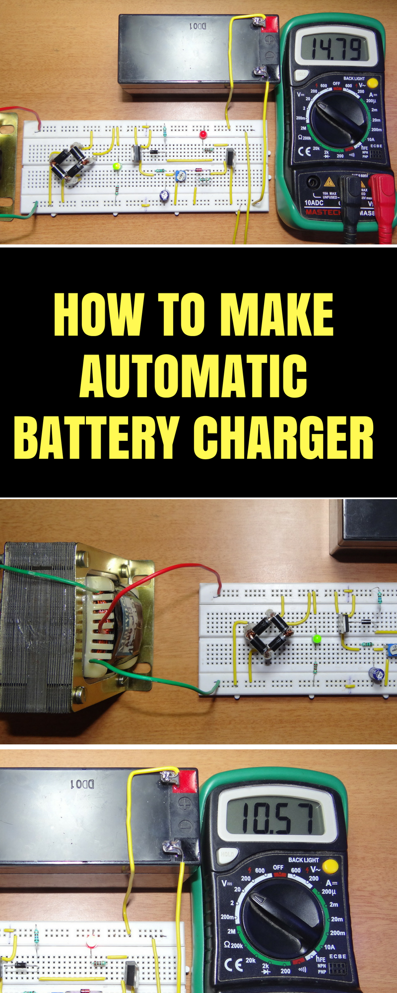 Automatic 12v Portable Battery Charger Circuit using LM317 ...