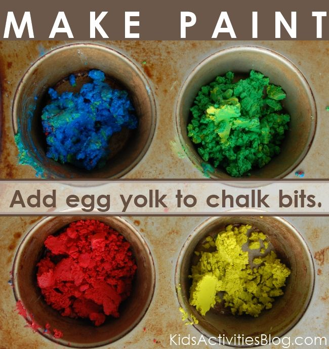 42 Very Easy Things To Paint On Canvas: {Colorful} Egg & Chalk Paint Recipe