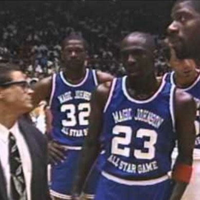 f0e8c965fe9 MJ at Magic Johnson's Charity game Click link in bio to watch the amazing  highlights On #MJMondays, @Jordans_Daily will be reliving a series of  Michael ...