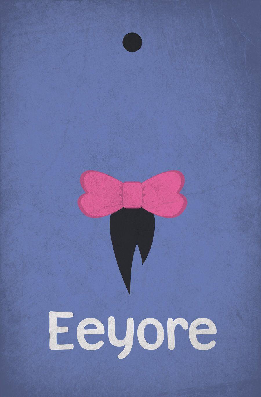 Eeyore Minimalist Poster by pmjohnst.deviantart.com on @DeviantArt