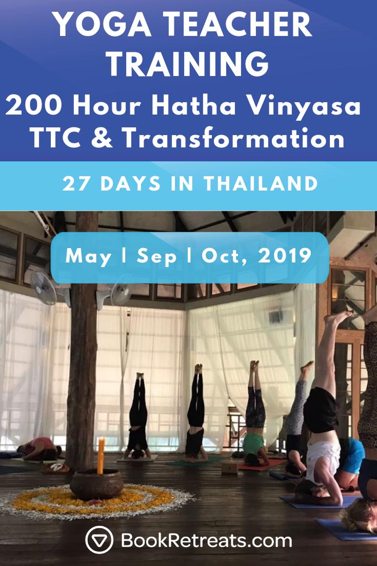 27 Day 200 Hour Hatha Vinyasa Ttc Transformation Thailand Teach Yoga Online Yoga Alliance Yoga Teacher Training
