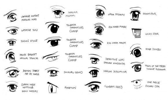 Differents Styles D Yeux Dessiner Yeux Manga Yeux Manga Regard