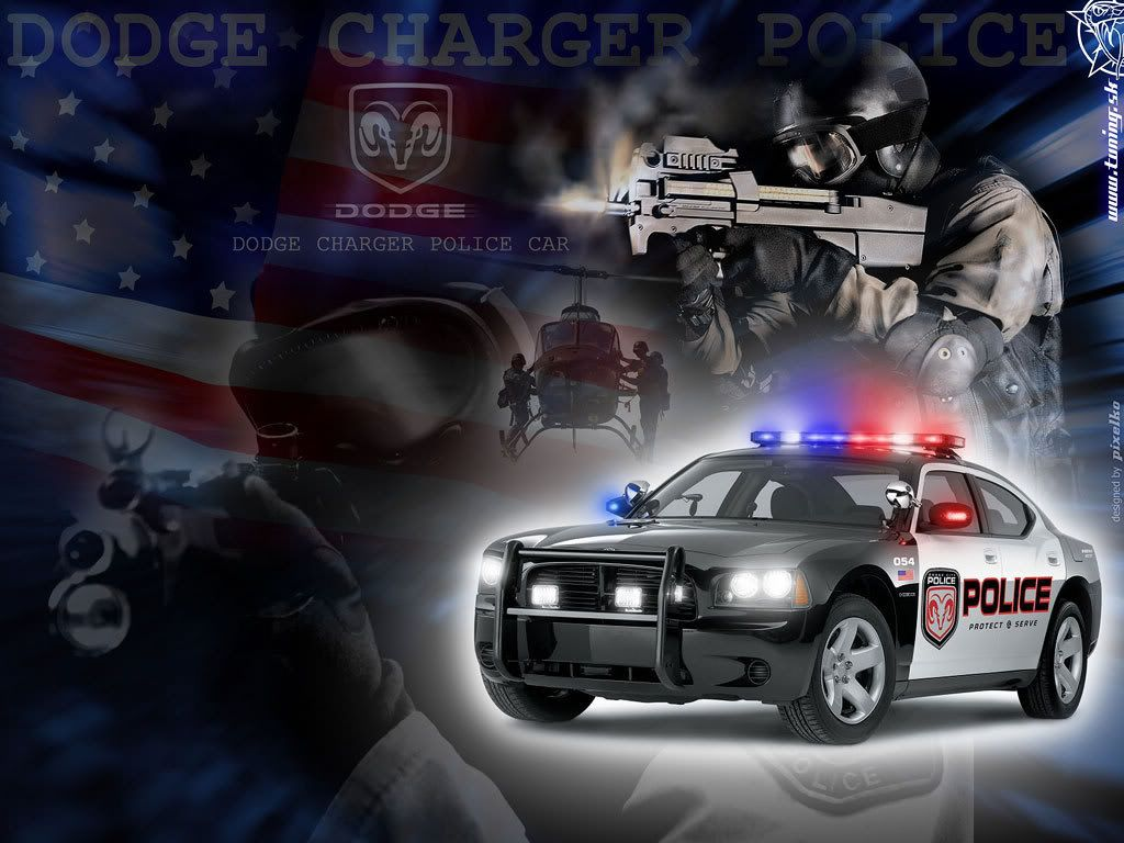 Police Charger Wallpaper Background Theme Desktop