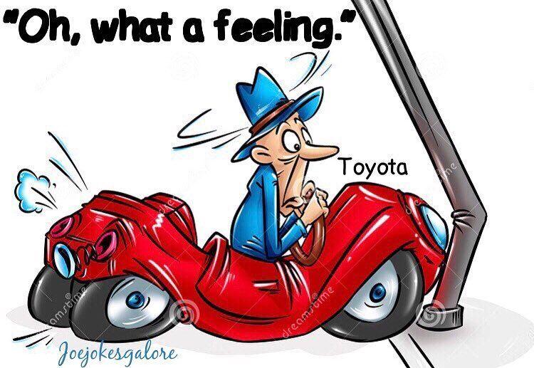 15 Likes 2 Comments Joe Jokes Joejokesgalore On Instagram Jokes Toyota Joke Lol Ohwhatafeelingtoyota Funnyjokes Dadjokes Cartoon Repair Car