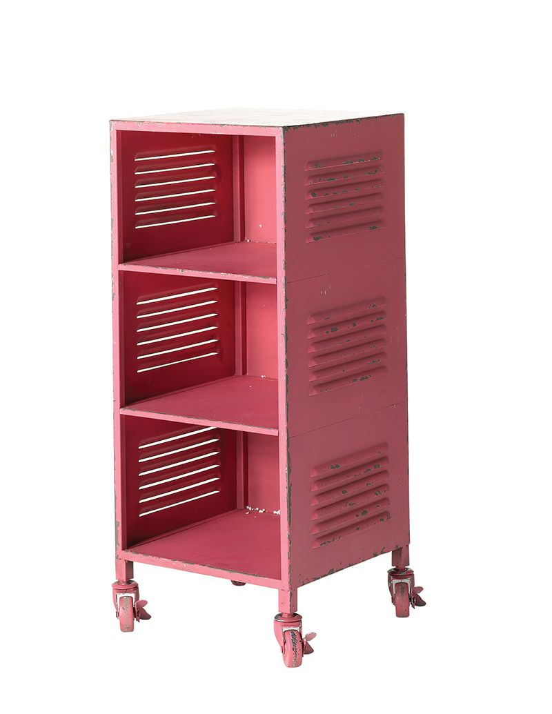Best General Eclectic Storage Solutions Locker Bedside Table Hot Pink Industrial Bedside Cabinets 640 x 480