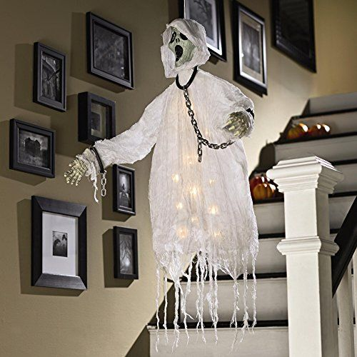 floating ghost hanger lighted led skeleton halloween decoration scary haunting haunts http - Lighted Halloween Decorations
