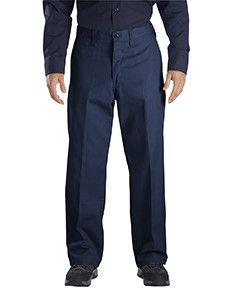 Dickies Men's 7.75 oz. Industrial Flat Front Pant LP812 Navy 46