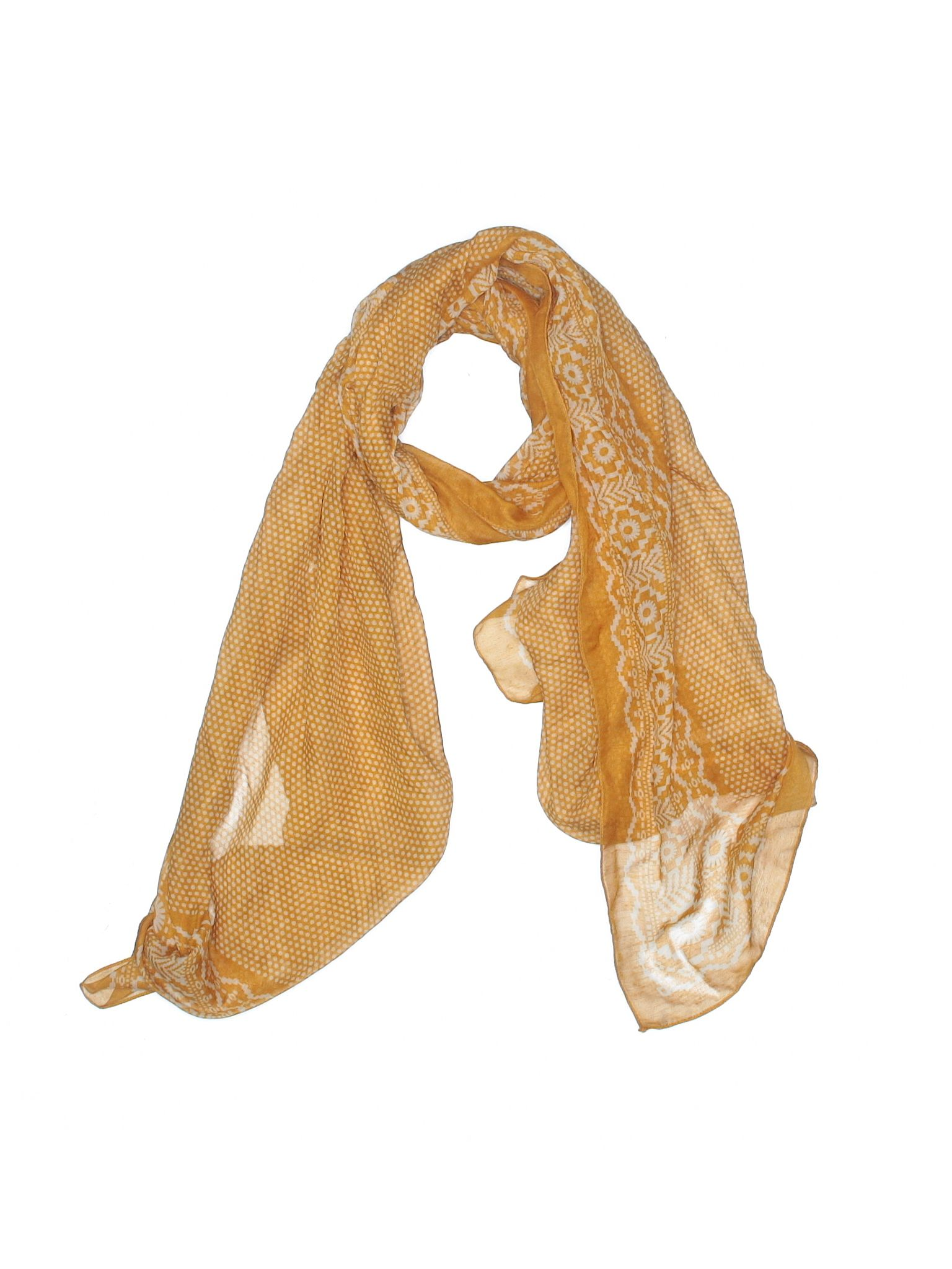 Unbranded Accessories Scarf Size 000 Dark Yellow Womens Accessories