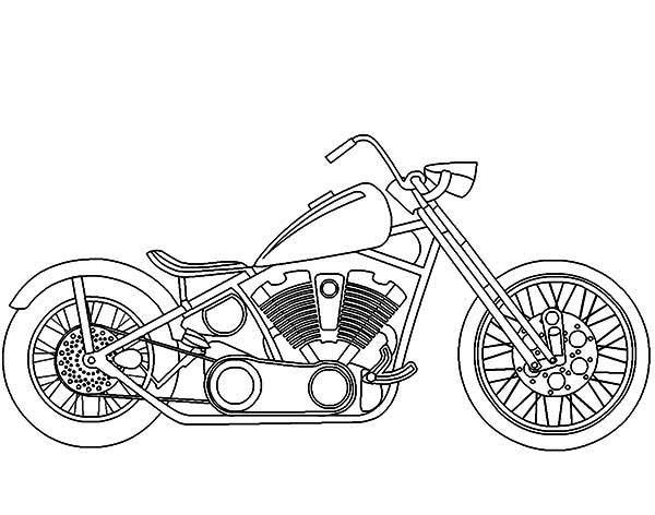 Awesome Harley Davidson Motorcycle Coloring Page Motorcycle Art