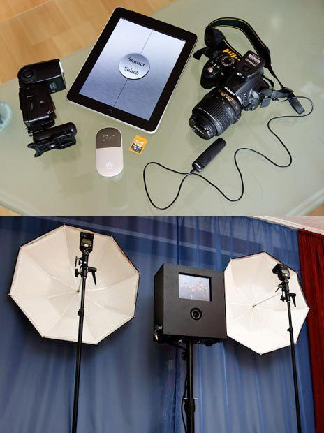 Diy photo booth with a dslr and ipad fotos de boda iluminacin y german wedding photographer rocco built this ingenious do it yourself photo booth using a nikon an ipad and a remote shutter release guests can step on solutioingenieria Images