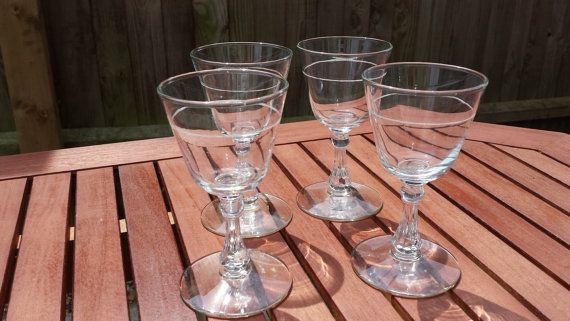 Four Wine Glasses by TrampsUK on Etsy, £20.00