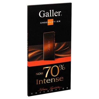 Galler tablette de Chocolat Noir 70% Intense 80gr www.chockies.net