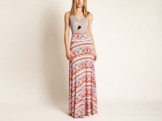 {Santa Fe Skirt} gorgeously patterned maxi skirt, in a soft modal fabric. Made in the USA.