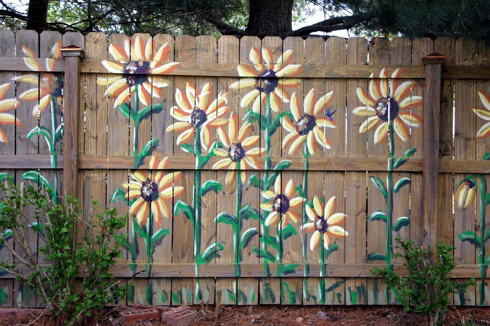 Medium Crop Of Backyard Fence Art