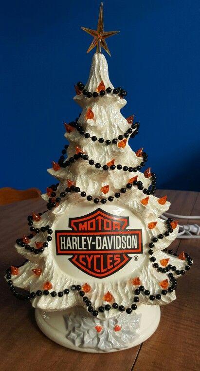 HARLEY DAVIDSON CERAMIC CHRISTMAS TREE - Original & Cute! HARLEY DAVIDSON CERAMIC CHRISTMAS TREE Hot Harley