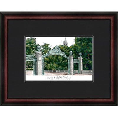 Campus Images Academic Lithograph Picture Frame Ncaa Team Cal Golden Bears University Of California Campus Picture Frame Sets