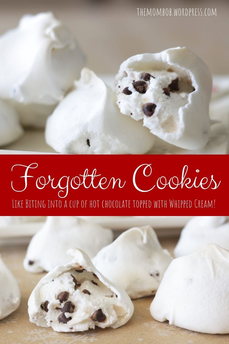 Forgotten Cookies: Like Biting into a Cup of Hot Chocolate Topped with Whipped Cream