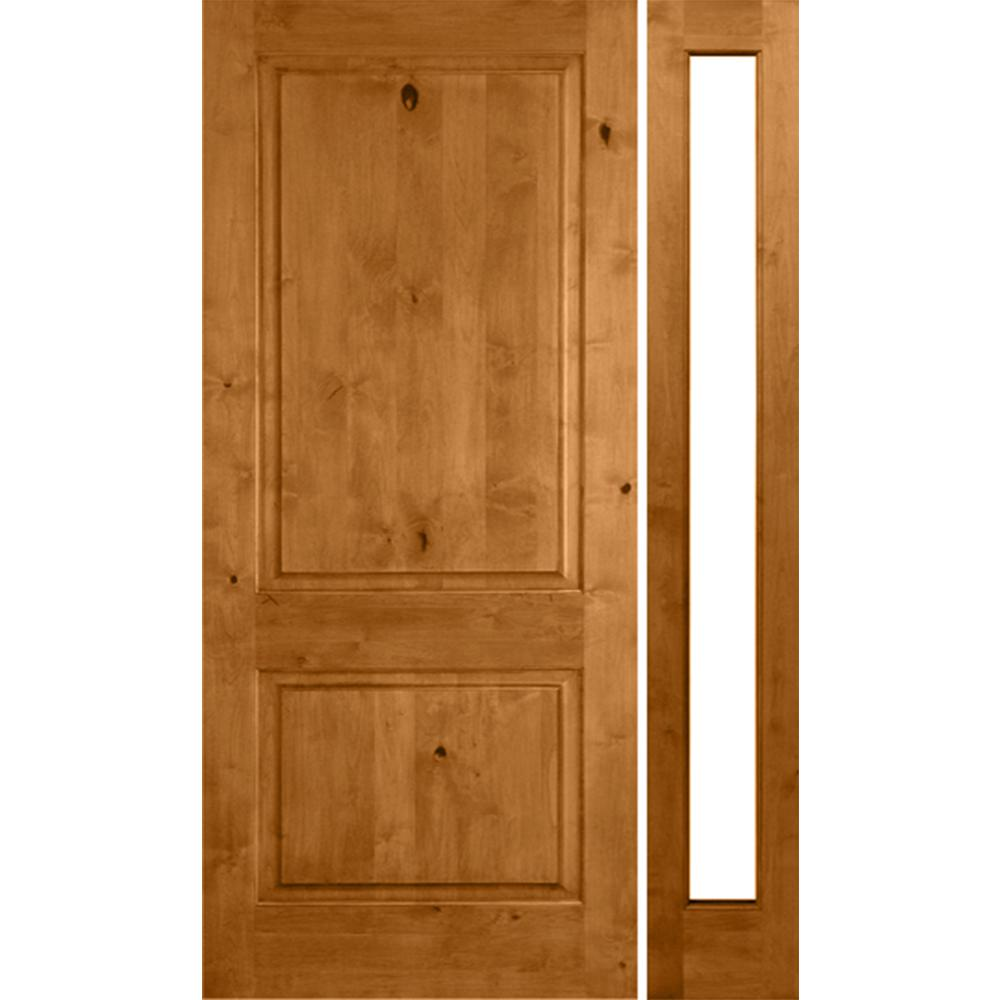 Krosswood Doors 59 In X 97 625 In Rustic Knotty Alder Unfinished Left Hand Inswing Prehung Front Wood Doors Interior Prehung Interior Doors Wood Front Doors