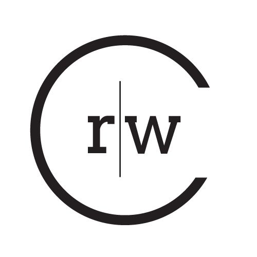 Monogram identity of the letters c, r and w logo mark and monogram concept. www.adamgarlinger.com