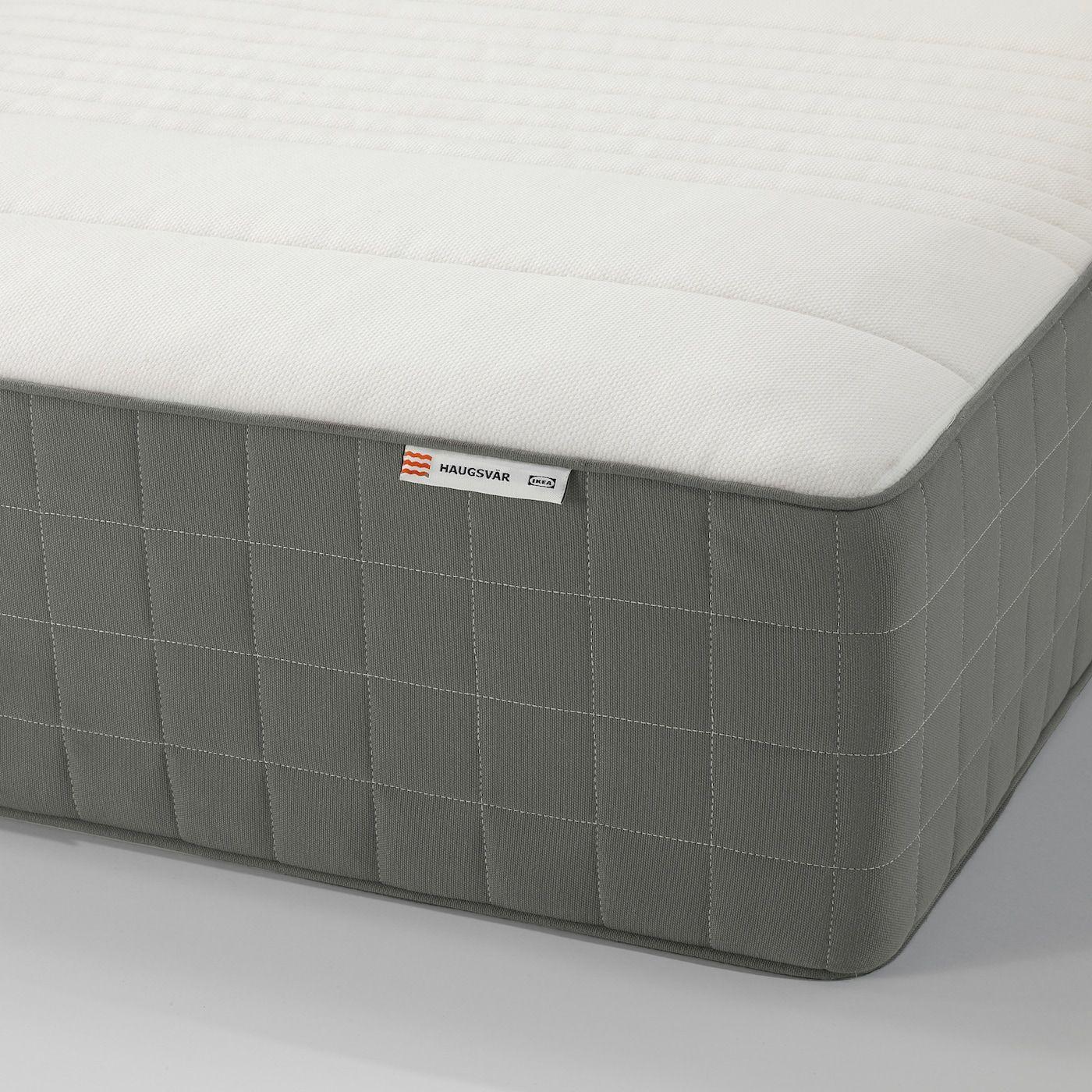 HAUGSVÄR Hybrid mattress medium firm, dark gray. Shop