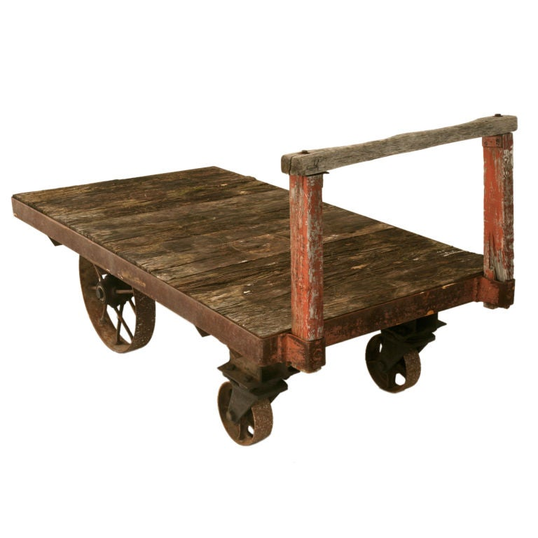 1stdibs Wood, Iron C.1900 Railroad Cart Industrial French #frenchindustrial