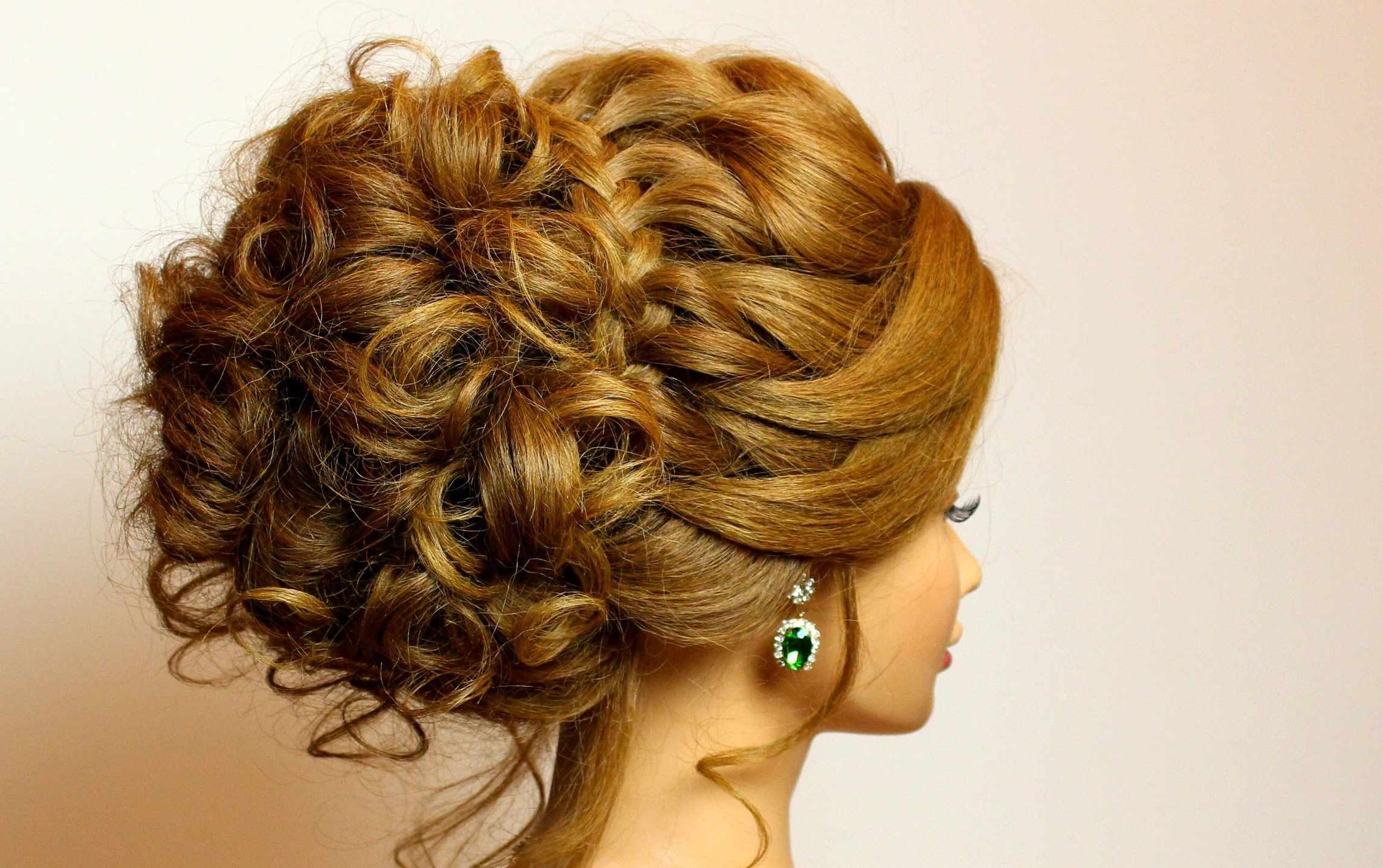 prom bridal updo. romantic hairstyle for long medium hair