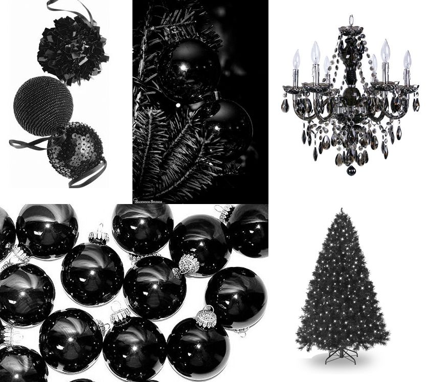 Black Christmas Ornaments.Black Ornaments For A Black Christmas Tree Christmas