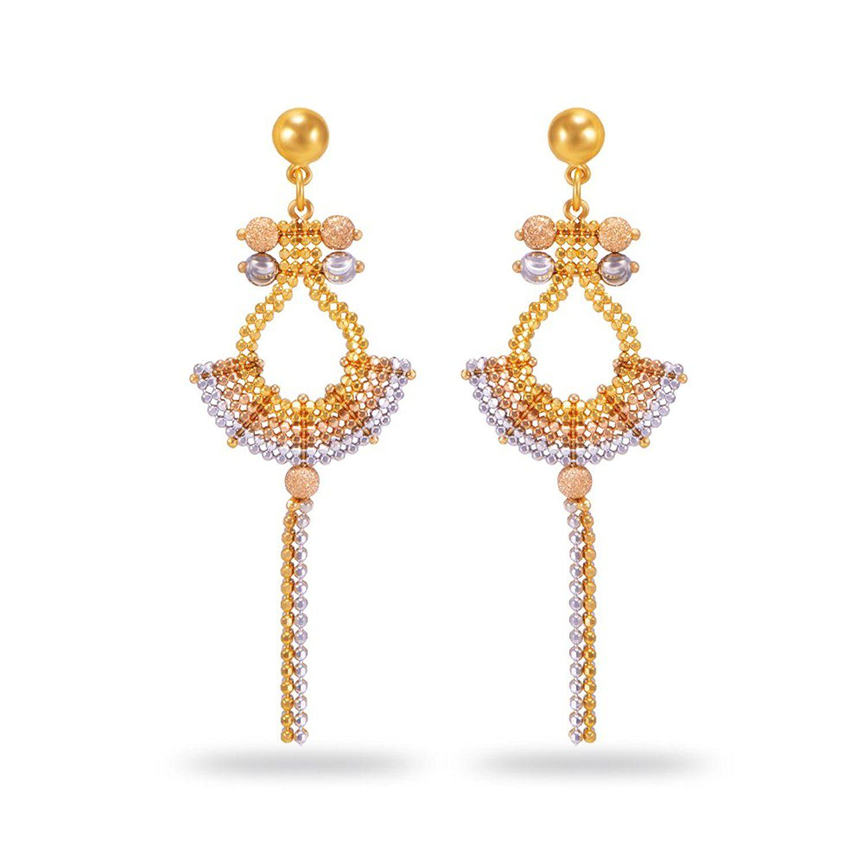 Buy Joyalukkas Zenina Collection 22K Yellow Gold Earrings Online ...