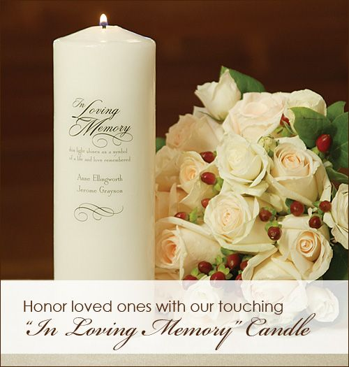 Find This Pin And More On Navy Blush Wedding Ideas Honor Loved Ones With A Special In Loving Memory Candle