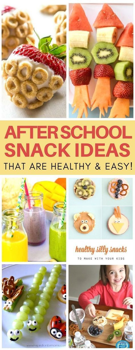 These after school snack ideas for kids are SO creative! I love how quick & easy the recipes are and they are super healthy snack ideas plus food crafts in one! #kids