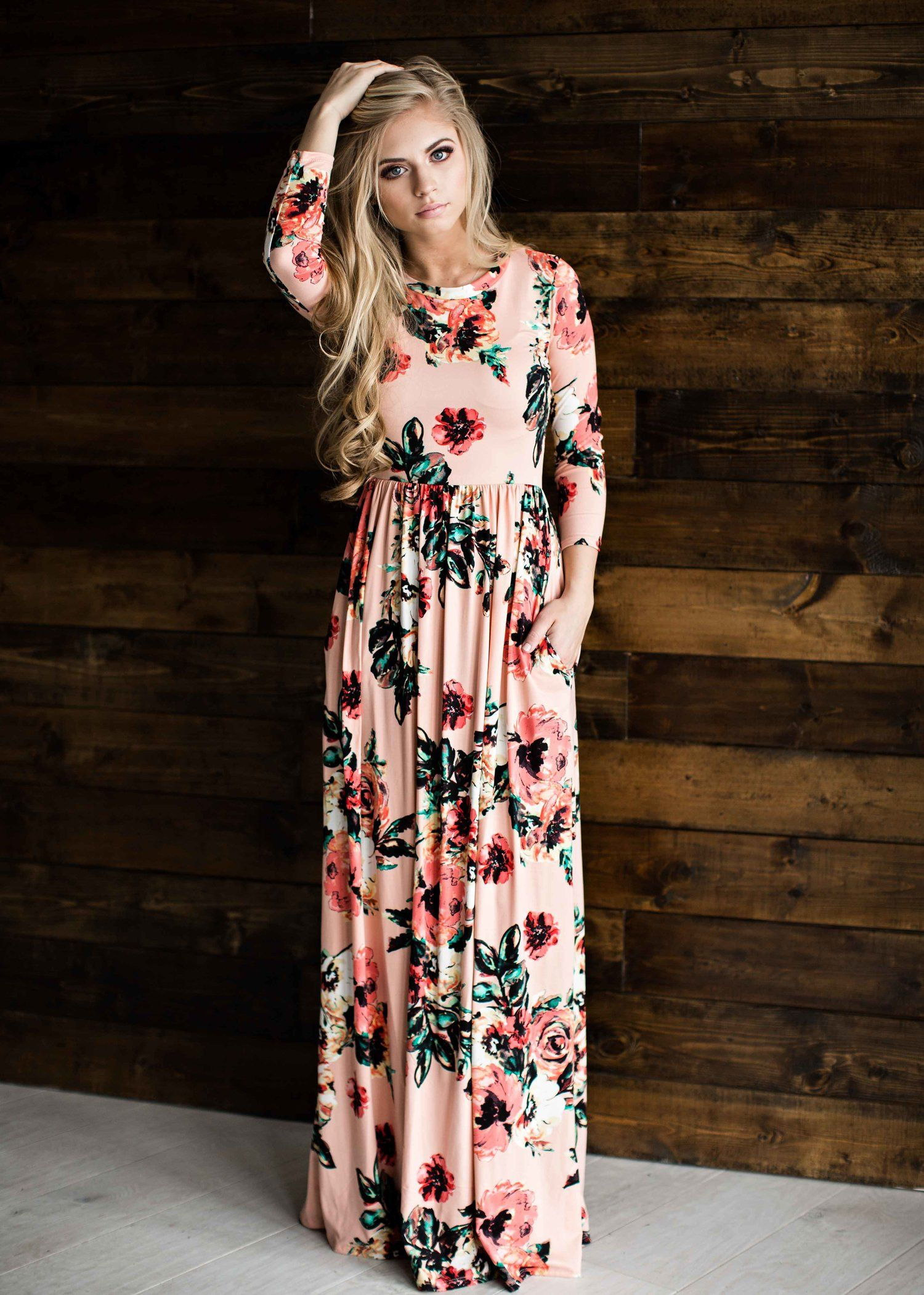 Floral dress floral easter dress blonde hair fashion style