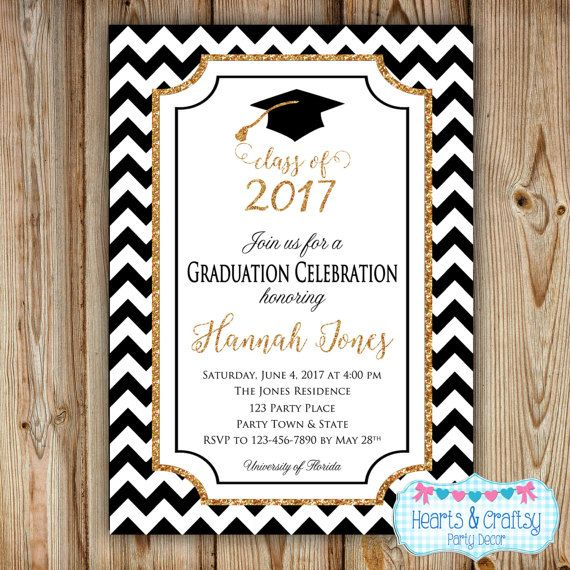 Congrats graduate this listing is for a customized graduation graduation party invitation college graduation invitation high school graduation gold glitter sparkle class of 2017 digital file filmwisefo Image collections