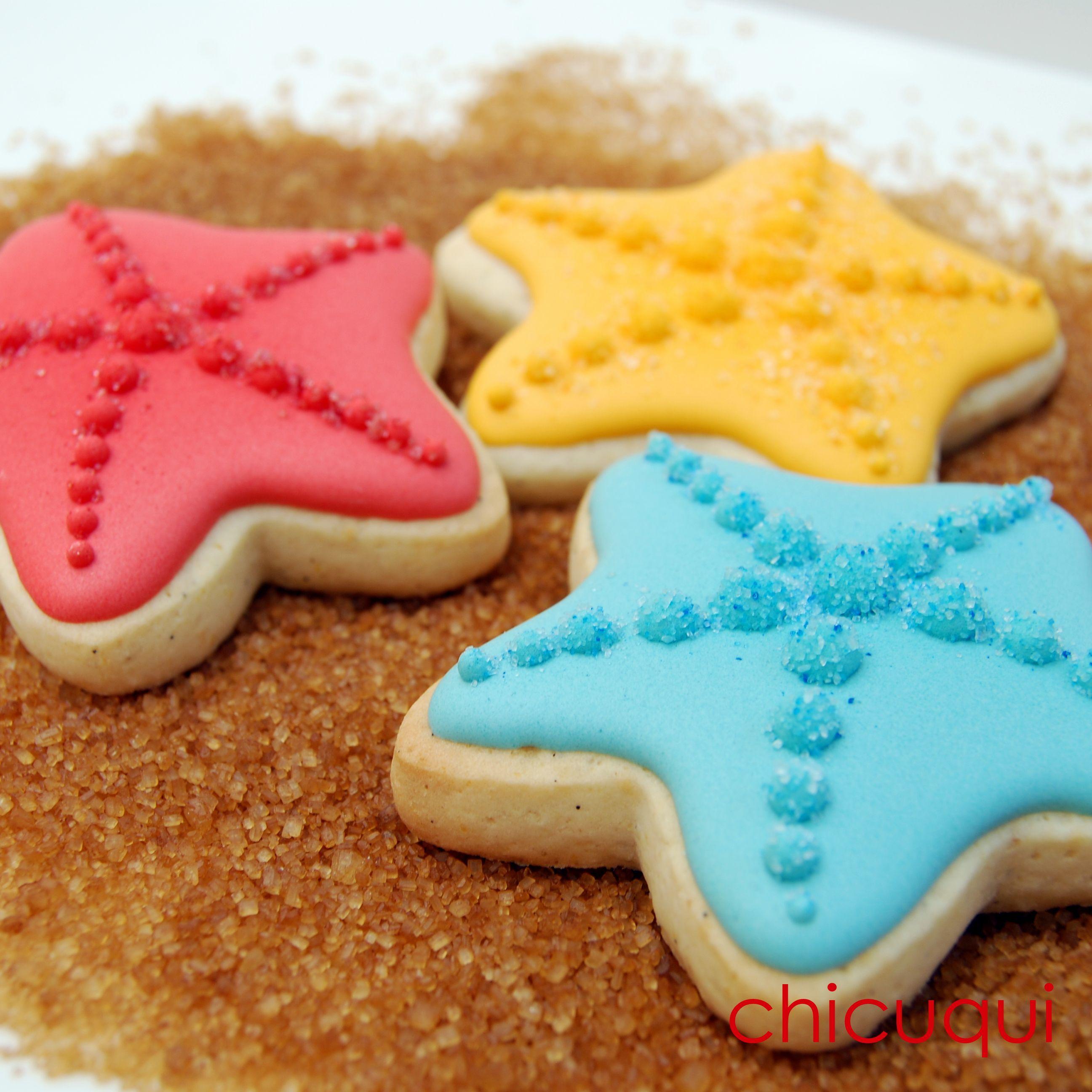 Estrellas Mar Verano Galletas Decoradas Chicuqui Com