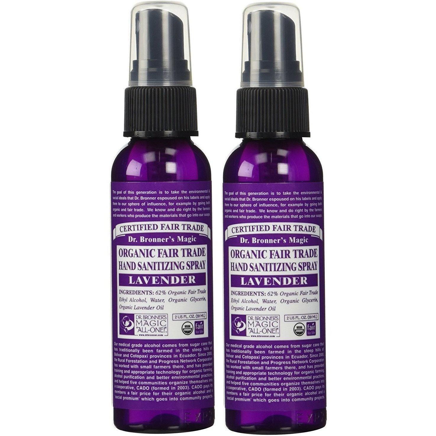 Dr Bronner S Organic Lavender Hand Sanitizing Spray 2 Oz 2