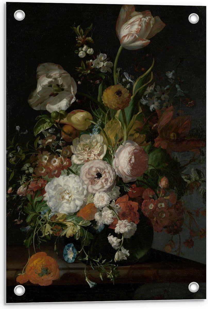 Tuinposter Oude Meesters Stilleven Bloemen In Een Glazen Vaas Rachel Ruysch In 2021 Glas Schilderij Kunst Ideeen Glazen Vaas