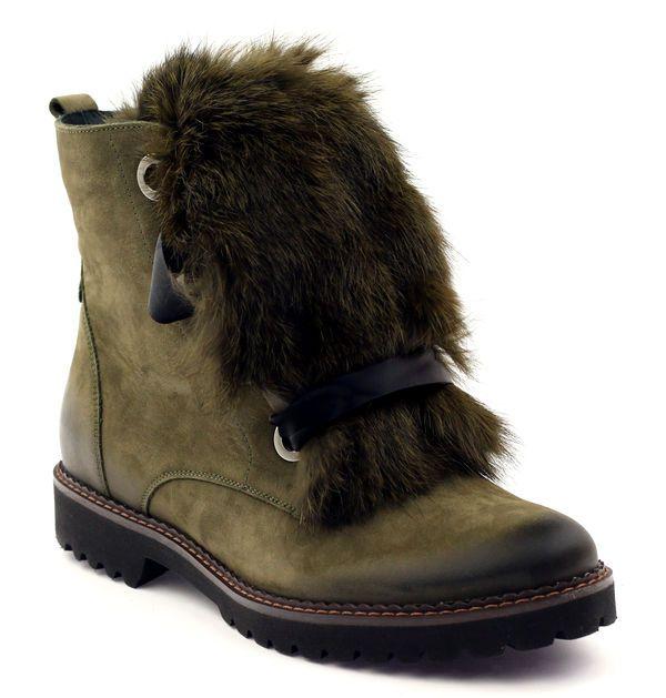 Badura Botki Zielone Z Futrem Wiazane 8137 Shoes Winter Boot Boots