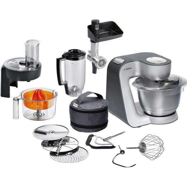 Bosch Kitchen Machine Mum48r1gb Stand Mixer Red Silver In 2020 Bosch Kitchen Machine Bosch Kitchen Kitchen Mixer