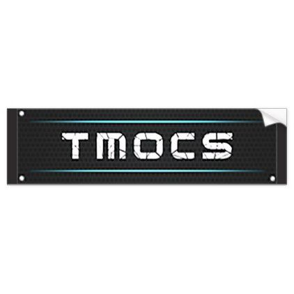 Tmocs dj logo bumper sticker sticker stickers custom unique cool diy
