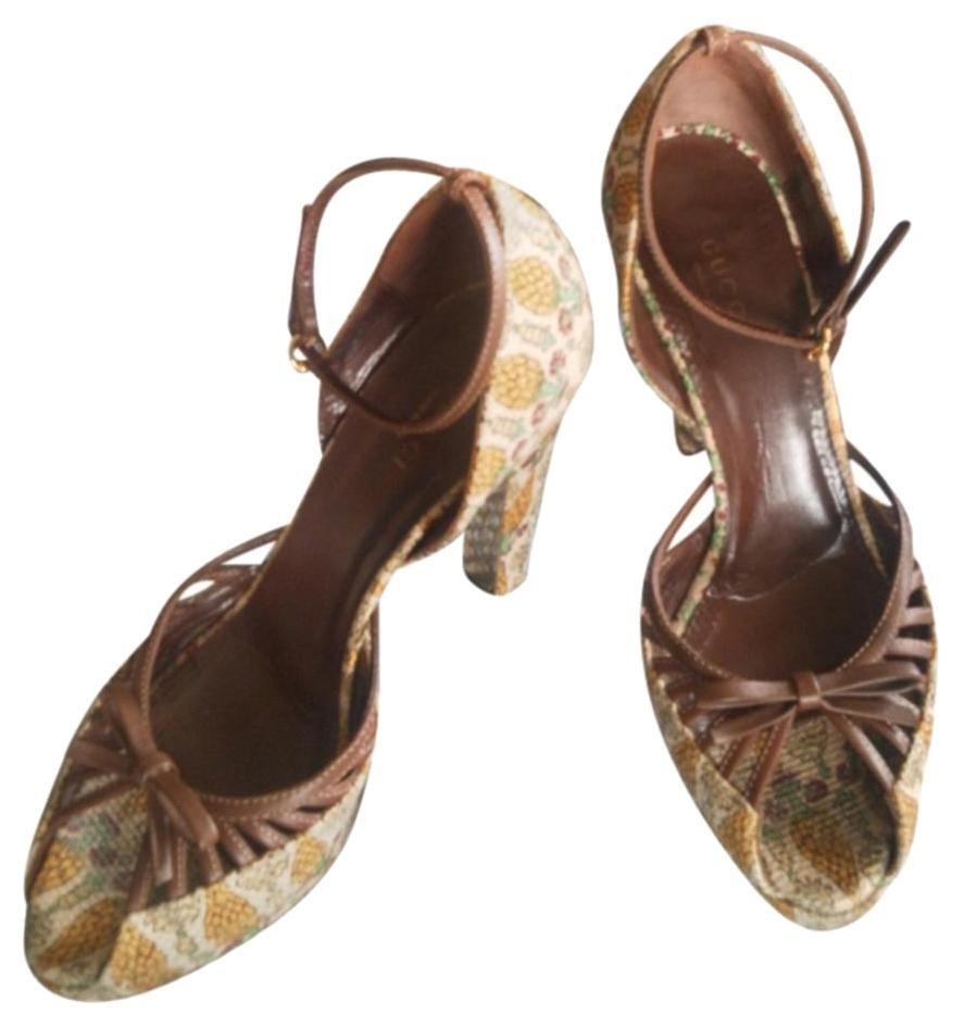 82b921769a3d Brown Pigne Pinecone Sandals Rare Limited Edition Platforms ...