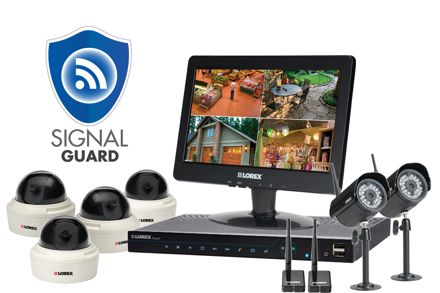 High resolution perspective security camera system with